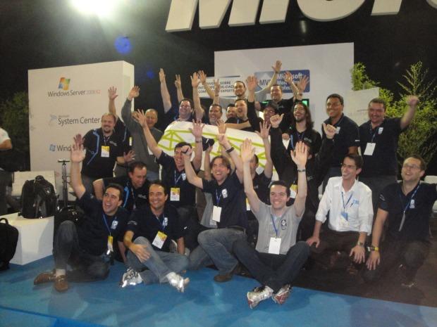 Todos os MVPs reunidos no stand MVP Brasil!!!